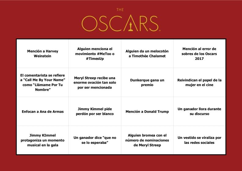 Oscars 2018 - ShotGame