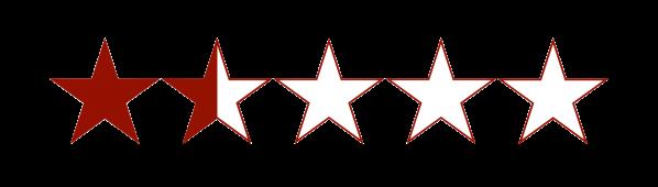 1.5 estrellas